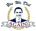 Obama Yes We Did Again V2 Color