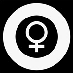 Female Symbol black and white