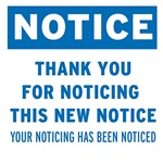 Notice! Thank You for...