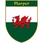 Harper Welsh Flag Shield