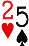 2 of Hearts 5 of Spades