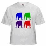 4 Color Bulldog Silhouttes