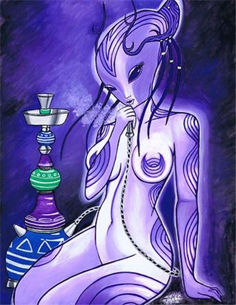Alien Smoking Hookah