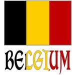 Belgium Flag & Word