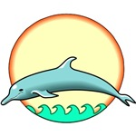 Jumping Dolphin T-shirts & Gifts