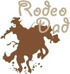 Bucking Bronco Rodeo Dad T-shirts & Gifts