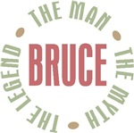 Bruce the Man the Myth the Legend T-shirts Gifts