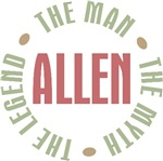 Allen the Man the Myth the Legend T-shirts Gifts