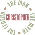 Christopher Man Myth Legend T-shirts Gifts