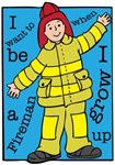 I want to be a Fireman when I grow Up T-shirts Gif
