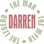 Darren the man the myth the legend T-shirts Gifts