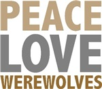 Peace Love Werewolves Twilight Tees Gifts