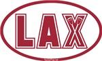 Lacrosse Lax Oval Crimson