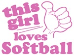 Girl Loves Softball