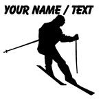 Custom Skier Silhouette