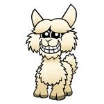 Cartoon Alpaca