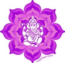 Ganesha purple / YOGA Gold/Red