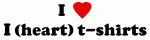 I Love I (heart) t-shirts