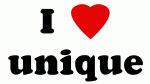 I Love unique