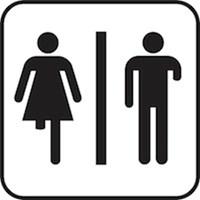 Men's and Women's Stick Figures