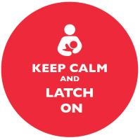 Keep Calm and Latch On Red