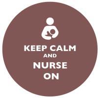 Keep Calm and Nurse On Light Brown