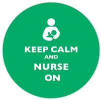 Keep Calm and Nurse On Dark Green