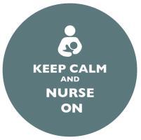Keep Calm and Nurse On Grey