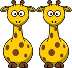Two Fun Time Giraffes