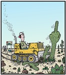 Cactus giving the Finger