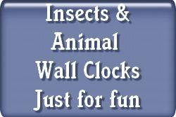 Insects and Animal Wall Clocks