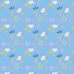 Aqua Green Cool Summer Floral Pattern