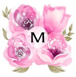 Pink Monogram Watercolor Floral