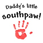 daddy's little southpaw!