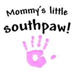 mommy's little southpaw!