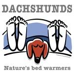 Dachshund bed warmers (red dachshund)