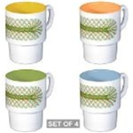 Sets of 4 Stackable Mugs