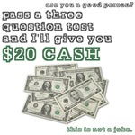 3 question (with cash)