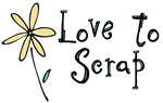 Love to Scrapbook - flower-yellow