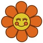Smiley Orange Flower