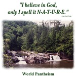 'I believe in God.' quotation - Waterfall