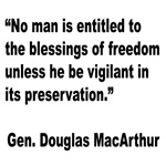 MacArthur Freedom Blessings Quote