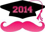 Pink Mustache Grad 2013