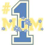 #1 Mom Cornflower