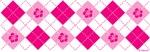Flower Argyle in Pink