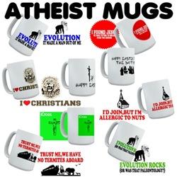Atheist Mugs,Atheist Steins for Atheist Drinkers