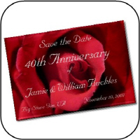 Red Rose - Save the Date