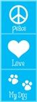Peace, Love, My Dog-Blue