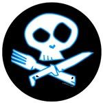 Blue Foodie Skull