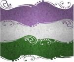 Genderqueer Ornamental Flag